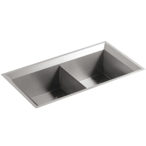 Kohler Poise Stainless Steel Double Bowl Kitchen Sink - 3388-NA